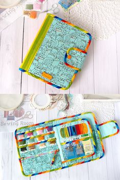 This organizer for hand embroidery, cross stitch and keep your accessories. This case is perfect for on-the-go cross stitch projects with 6 in hoops and it fits in the big pocket in the back. Holds everything you need for cross stitch with plenty of pockets and a felt needle holder. You can take accessories to travel. You will bring this on the train and in the car. The project case provides a handy and safe way to transport needles and keeps them from cluttering up your pincushion.