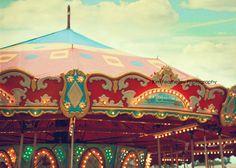 Carnival Photography - Carousel 5x7 Fine Art Photography . state fair . carnival . circus . nursery decor . circus art