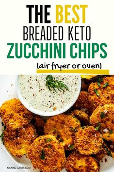 Looking for a healthy snack recipe that you will make again and again. This is it! These air fryer Breaded Zucchini Chips are not only easy to make, but they are delicious! Feel good about serving this snack to your family. PINNING!  #wendypolisi #zucchinichips #zucchinirecipe #zucchinirecipes #lowcarb #lowcarbrecipes #airfryer #airfryerrecipes Breaded Zucchini, Zucchini Chips, Zucchini Bread, Low Carb Keto, Low Carb Recipes, Real Food Recipes, Snack Recipes, Tasty, Yummy Food