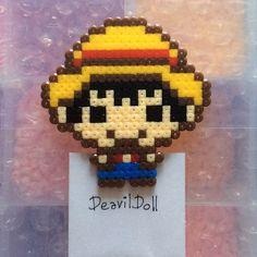 Monkey D. Luffy One Piece perler beads by deavildoll