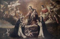 St. Catherine of Siena | http://www.saintnook.com/saints/catherineofsiena - File:Virgen del Rosario Santo Domingo y Santa Catalina de Siena.jpg
