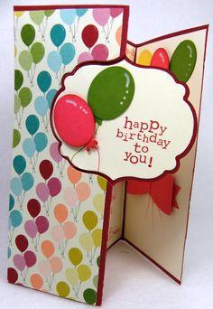 Designz By Gloria using Stampin' Ups Basic Birthday Designer Series Paper and new Thinlit dies