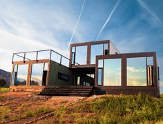 cabin made from shipping containers