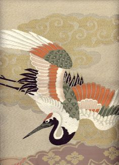 detail of fukusa (gift cloth), 1930-1940. Yorke Antique Textiles