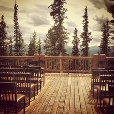 The Deck At Timber Ridge West Facing With Views Of Mt Guyot Keystone ColoradoSummit CountyWedding VenuesRangeDecks