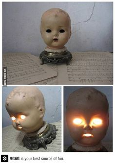 The creepiest bedside lamp