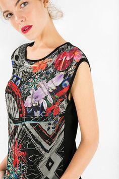 ec1c0b55b66b Desigual Short-sleeved evening wear top. Discover women s fashion with  attitude! M B