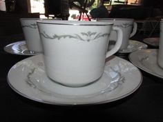 Vintage Porcelain Signature Collection Petite Bouquet 114 MS Cups and Saucers
