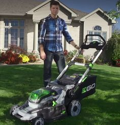 Ego Power Plus show us its cordless lawn mower, powered by the 56 volt lithium-ion battery. The performance of petrol, but without the noise! #egopowerplus. Available from www.gardenlines.co.uk