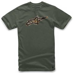 #Alpinestars Trigger T-Shirt - Army Green #Regular fitSoft hand plastisol30 singles, combed cotton100% Cotton (Barcode EAN=8051194970428)