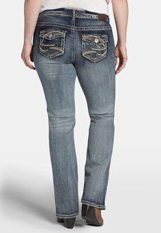 denim flex ™ plus size slim boot jeans in medium wash - maurices.com