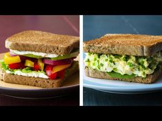 Healthy Sandwich Recipes For Weight Loss : looking for a tasty, hassle-free lunch ideas for your weight loss diet, ? Beat mid-day hunger with these healthy and delicious 13 sandwiches recipes for weight loss Tofu Sandwich, Healthy Sandwich Recipes, Roast Beef Sandwich, Healthy Sandwiches, Sandwich Ideas, Tofu Salad, Tuna Avocado, Ground Turkey Recipes, Food Categories