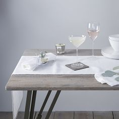 Buy Vintage Washed Linen Runner - from The White Company Fine Dining, Dining Table, Dining Room, Bath Table, White Runners, The White Company, Updated Kitchen, Table Linens, Home Accessories