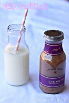 DIY Glass Milk Bottles