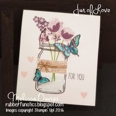 Stampin' Up! Jar of Love by Melissa Davies @rubberfunatics #stampinup #jaroflove #rubberfunatics