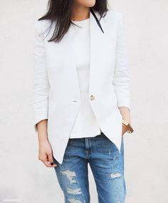 Whites and denim.