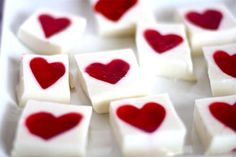 Heart-shaped jello dessrt