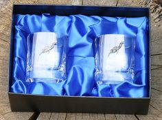 Diver Crystal Whisky Tumblers Glasses Gift by GamekeepersGifts