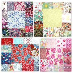Liberty Fabric Scraps 56 pieces Liberty Fabric by PickClickSew