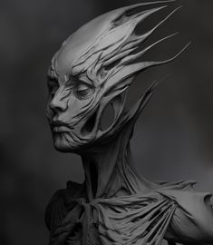 Artstation zbrush sketch olya anufrieva top 10 zbrush projects in july 2019 Zbrush Character, Character Art, Character Design, Creature Concept Art, Creature Design, Abstract Portrait, Portrait Art, Ceramic Sculpture Figurative, Beautiful Dark Art