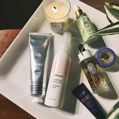 Night time routine :full_moon_with_face::sparkles:.  :last_quarter_moon_with_face:Cleanse #africanbotanics  :last_quarter_moon_with_face:Spritz #glossier  :last_quarter_moon_with_face:Treatment #pixibeauty I had this for a while but I never really used it. I applied it last night, and it's a little tacky but once I patted it onto my skin it feels fine.  :last_quarter_moon_with_face:Face Oil #diptyque I have been using this oil for three nights in a row and I'm enjoying the results. So far it…