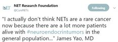 Dr Yao says NETs are not rare