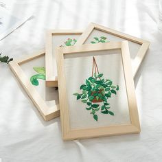 Hand embroidery kit beginner Modern DIY Embroidery Plant Handcraft Needlework Cross Stitch Kit Cotton Embroidery Painting Hoop Home Decor Embroidery Materials, Embroidery Patterns, Hand Embroidery, Embroidery Needles, Diy Craft Projects, Diy Crafts, Cross Stitch Fabric, Color Patterns, Printing On Fabric