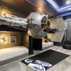 Decoration Star Wars, Star Wars Room Decor, Star Wars Bedroom, Star Wars Bedding, Bedroom Themes, Bedroom Decor, Bedroom Ideas, Bedrooms, Bedroom Pictures