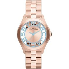 Marc Jacobs Women's MBM3296 Henry Skeleton Rose Gold Watch Sale! Up to 75% OFF! Shot at Stylizio for women's and men's designer handbags, luxury sunglasses, watches, jewelry, purses, wallets, clothes, underwear & more!