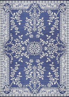 Oriental Garland Blue & White - Eco Friendly Indoor/Outdoor Patio Rug