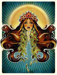 #HawaiianGirls / #illustration #art
