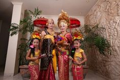 Balinese costume wedding