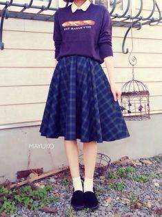MAYUKOさんのコーディネート  2014.10.29  tops ⁂ haco.  skirt ⁂ てづくり  sock ⁂ 靴下屋  shoes ⁂ AVAIL   --   おはようございます!  このスカートは手作りで  フォロワーさんが1万人突破した記念に  プレゼントしました( ∩ˇωˇ∩)   ピアスは写ってないけど(꒦ິ⌑꒦ີ)  tamaruyamaちゃんが作ってくれたピアスです!   早速Pachilも使ってみました  いい感じです╭( ・ㅂ・)و ̑̑   twitter@mayumimayuko