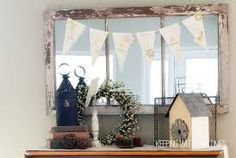Image result for old window frame with mirror