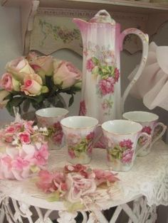 Chocolate pot and cups