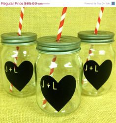 HOLIDAY Sale Personalized Heart Chalkboard Labels by BradensGrace, $72.25