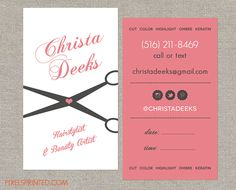 hairstylist business cards | I <3 Cosmetology! | Pinterest ...