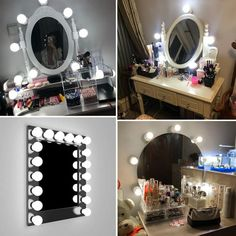 Cheap wall lamp, Buy Directly from China Suppliers:Wall Lamp LED Makeup Mirror Vanity Led Light Bulbs Hollywood Style Led Lamp Touch Switch USB Cosmetic Lighted Dressing table Vanity Light Bulbs, Led Vanity Lights, Makeup Mirror With Lights, Vanity Lighting, Strip Lighting, Makeup Light, Led Makeup Mirror, Led Mirror, Mirror Vanity