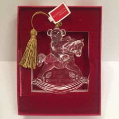Marquis by Waterford Glass Christmas Ornament 2014 Baby's First Christmas 165104 #WatherfordCrystal