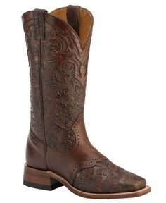 232de0ef0c3 Boulet Hand Tooled Ranger Cowgirl Boots - Square Toe