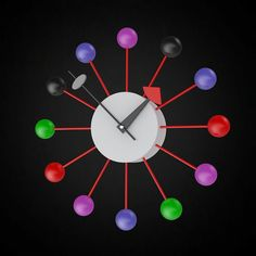 George Nelson Ball Clock- 3D furniture model - Use PROMO CODE: pin3d and get 20% off - $6.00