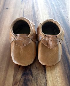 Handmade Genuine Leather Baby / Toddler Tan by MyPoppyCreations, $30.00