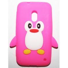 Lumia 620 hot pink pingviini silikonisuojus. Hot Pink, Phone Cases, Pink, Phone Case