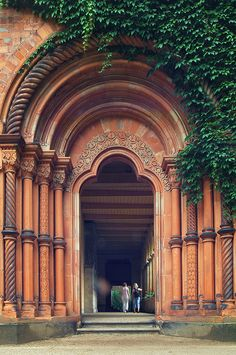 Entrance to the church of Peace, Sanssouci park, Germany