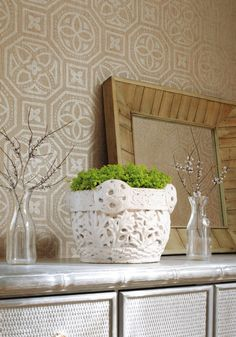 Beautiful Designs at Thibaut and Anna French - Classic Casual Home Tile Wallpaper, Wallpaper Panels, Textured Wallpaper, Colorful Wallpaper, Bohemian Wallpaper, Anna French, French Classic, Dreieckiges Tattoos, Cabin Furniture