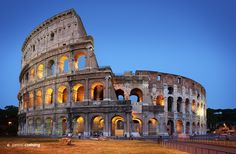 """Twilight over the Colosseum, Rome, Italy... """"Colosseum"""" by Jarrod Castaing Fine Art Photography #jarrodcastaing at www.jarrodcastaing.com"""
