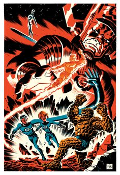 "spaceshiprocket: "" Fantastic Four by Michael Cho """