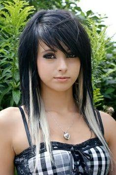 Black hair blonde highlights hair pinterest black hair hair pmusecretfo Images