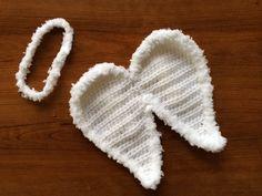 Crochet Newborn Baby Boy Girl Angel Wings and Halo Headband Photo Prop---- Ready to Ship--- on Etsy, $25.00