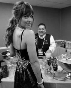 Love this!  Dakota Johnson at GoldenGlobes phohoby #gregwilliamsphotography Cr. @50tonsdecinza